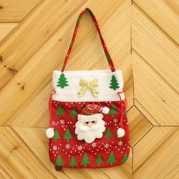 2019 süßigkeiten goody taschen Weihnachten behandeln Taschen Neujahr Inhaber Weihnachten Candy Bag Party Goody Taschen Santa Xmas Bag für Candy Geschenk günstig süßigkeiten goody taschen