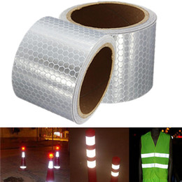 Wholesale Reflective Safety Tape - 1 PCS Safety Mark Reflective tape stickers car-styling 5cm*3m Self Adhesive Warning Tape Automobiles Motorcycle Reflective Film CEA_30E
