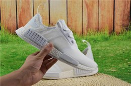Wholesale Fish Discount - 2017 Wholesale Discount Cheap NMD Runner Primeknit Sales White Red Blue NMD Runner Sports Shoes Men Woman NMD Running Boost with Box