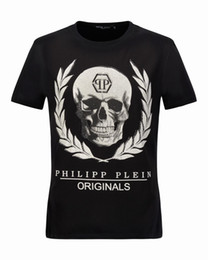 Wholesale 3d Leaves - Skull & Leaves Diamond Mens T-Shirts Printed 3D Medusa Male T Shirt Brand Short-Sleeved Shirts Summer Mens Tee Shirts 18281