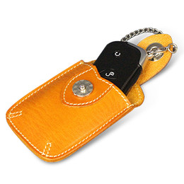 Wholesale Leather Cowboy Bags - Ruil New Cowboy Genuine Leather Men Wallets Amekaji Credit Card Pack Car key chain bag Retro Card Pack small gifts