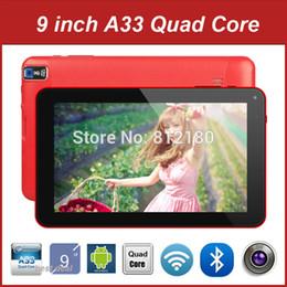 Wholesale Cheap Ddr3 - Wholesale- Wholesale Cheap 9 Inch Tablet PC Android 4.4 Allwinner A33 Quad Core RAM DDR3 512M 8G ROM Dual Camera WiFi, 10pcs lot DHL Free