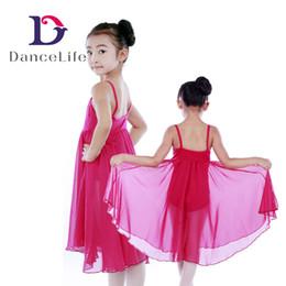 Wholesale Girls Yellow Ballet Costume - Free shipping Child ballet skirt C2147 Long Girls Chiffon Skirt Dance Dress Ballet Costume
