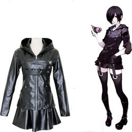 Traje de cosplay touka on-line-Kukucos Tóquio Ghouls Touka Kirishima Combate Vestuário Vestuário de couro Cosplay Costume