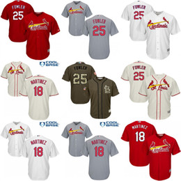 Wholesale Cool White Kids - Youth 2017 St. Louis Cardinals 25 Dexter Fowler 18 Carlos Martinez kids White grey red green Cool Base Jersey Stitched SIZE S-XL