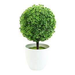 All'ingrosso-Mastone vaso di ceramica piante artificiali Fiori di simulazione in vaso decorato Floccaggio fiore cheap flocked flowers da fioravano fiori fornitori
