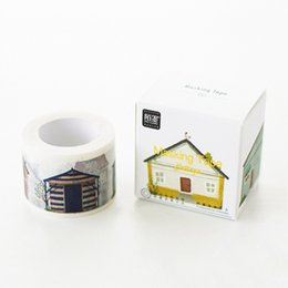 Wholesale Kawaii Deco - Wholesale- 2016 Kawaii Town in Time Paper Adehive Tape Scrapbooking DIY Craft Sticky Deco Masking Japan Washi Tape Cute Stationery 10m*30mm