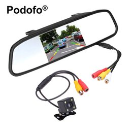 """Wholesale Car Video Mirror - 4.3"""" Car Mirror Monitor Rear View Camera Waterproof CCD Video Auto Parking Assistance LED Night Vision Reversing Car-styling"""