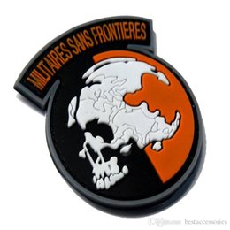 Wholesale Pvc Tapes - VP-133 3D Morale outdoor Patches Militaires Sans Frontieres PVC patch with magic tape armband outdoor badge Tactical Rubber Patch