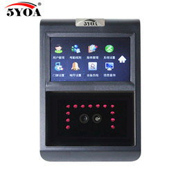Wholesale Time Attendance Reader - Wholesale- 5YOA F5FY Face Facial TCP IP Attendance Access Control Biometric Time Clock Recorder Employee Electronic Standalone Reader