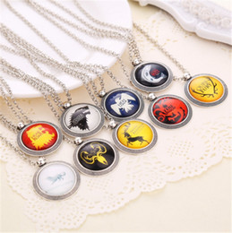 Wholesale Fire Ropes - Game Of Thrones retro Necklace Song Of Ice And Fire Vintage Pendant necklace mixed design Wholesale