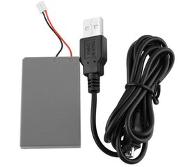 Wholesale Replacement Battery Packs - 2 Pieces LOT 2000mAh 3.7V Rechargeable Replacement Battery Pack for Sony Playstation PS4 Controller with Charge Cable