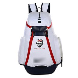 Wholesale Student Bags Woman - Student Bag Schoolbags New Olympic USA Team Packs Backpack Man Bags Large Capacity Waterproof Training Travel Bags Shoes Bags Free Shipping