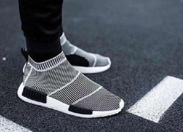 Wholesale Free City Shoes - Free Shipping Nmd City Sock Men Women Shoe NMD CS1 City Sock PK (Core Black Vintage White Ftwr White Casual Sports Shoes S79150