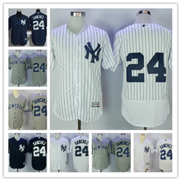 Wholesale Cool White Kids - cheap Mens Womens youth navy blue New York Yankees #24 Gary Sanchez gray white kids no name stitched baseball Flex Cool base Jerseys