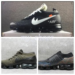 Wholesale Off Black Weave - 2018 VaporMax Multicolor Limited OFF WHITE 10X VAPORMAX Women Men Running Seakers Black Colorful 2017 Fashion Knitting Weaving Sports Shoes