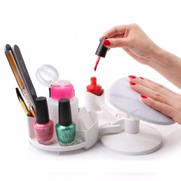 Wholesale Polish Station - Hot sale Mani Pedi Station Manicure and Pedicure Set Nail Studio Nail Polish Holder Stand and Rest DIY Home Nail Art F0552