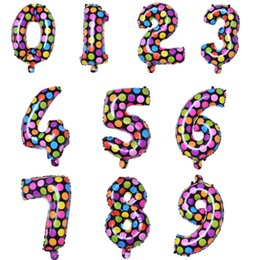 Wholesale Arabic Numeral Numbers - Number Balloon Wedding Decoration Banquet Party Toy Kid Aluminum Foil Birthday Gift Inflatable Hydrogen Helium Christmas Arabic Numerals