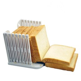 Wholesale Toast Bread Slicer - Wholesale- 1pc Bread Slicer Kitchen Pro Tool Loaf Toast Cutter Mold Maker Slicing Cutting Guide