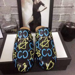 Wholesale Horsebit Loafers - Luxury Horsebit Slipper Princetown In Pelle Foderata E Rifinita In Pelliccia Di Agnello Plush Slippers Flower Applique Embroid Loafer Shoes