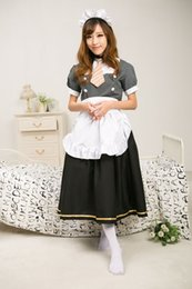 Wholesale Maid Uniform Cosplay - Real Photo 2017 Black Short Sleeve LoveLive! Minami Kotori Cosplay Costume Halloween Sonoda Umi Maid Uniform Lolita Dresses