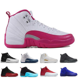 Wholesale Violet Summer - 2017 air retro 12 Basketball Shoes women Dark Purple Dust Deep Royal Blue ovo white Pink GS Barons Hyper Violet University blue Sneaker