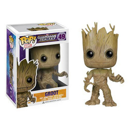 Wholesale Pops Vinyl - POP!Marvel 10cm Funko Groot figure Toy Guardians Of The Galaxy Vinyl Groot Toys Christmas gift Birthday Gift With Box