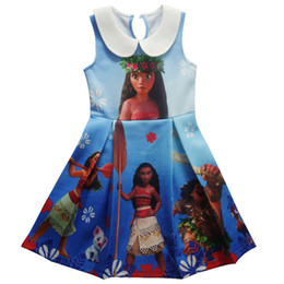Wholesale Casual Dress For Girls Kid - Moana Maui Dresses for Girls Sleeveless Summer 2017 Cartoon Movie vestidos Back to School Toddler Kids clothes vestido infantil