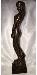 Wholesale Chinese Carved Stand - Chinese Folk Wood Carving Stand Naked beautiful woman Belle beauty Statue
