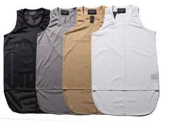 Wholesale Brand Tank Top Men - 2017 New Fear of God Mesh Vest Men Women High Quality JUSTIN BIEBER Hip Hop FOG Tank Tops Brand Clothing Fear of God Shirt