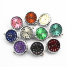Wholesale Clasps Fittings - New arrive Mix 10pcs substitutable glass Watch 18mm 20mm Snap Buttons Charms Fit Snap Bracelet Women Bangles fashion Jewelry