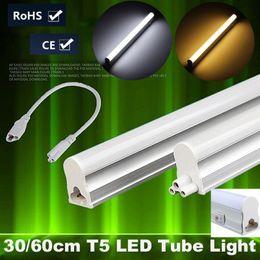 Wholesale Led T5 Bar - Wholesale- 6W 10W T5 LED Light Tube Bulb Bar Light With Switch 2835 SMD 30cm 60cm Fluorescent Tube Lamp Warm Pure White Lighting AC85-265V