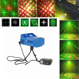 Wholesale More Lasers - More Patterns LED Mini Laser Stage Lights 150mW Red&Green Laser Projector Light DJ Party Disco Dance Floor Light Voice-activated Stage Light