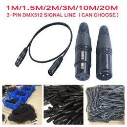 Wholesale Signal Meters For Cable - Wholesale- 1m 2m 3m 5m 10m 20 Meter Length 3-pin Signal Connection DMX Cable For Stage Light Lighting Accessories DMX512 Line