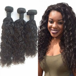 Wholesale Virgin Hair For Braiding - 3 Bundles Virgin Human Hair Mongolian Water Wave Weaves for Braiding 8-30 inch Natural Color FDSHINE