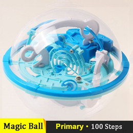 Wholesale Cube Jigsaw - Wholesale-Puzzle Magic Cube Ball Small Size 3D Labyrinth Magic Jigsaw Intellect Ball Marble Puzzle Teaser Perplexus Sphere ALL DGES #MB002