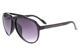 Wholesale Retro Women Shades - Hot 6 color Outdoor goggle brand designer Eyewear Italy Oval Sunglasses Men women shade Fashion Retro with original boxes case