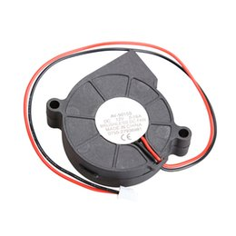 Wholesale Dc Brushless Blower - Wholesale- DC 12V 0.06A 50x15mm Black Brushless Cooling Blower Fan 2 Wires 5015S Best Price