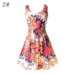 vestido de hortelã floral Desconto Atacado- Plus Size 2017 Mulheres Floral Vestidos de verão sem mangas 50s Vintage Mint Verde Casual Rockabilly Vestido Túnica Vestidos