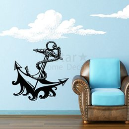 Wholesale Cheap Nursery Decorations - Good quality art new design cheap home decoration cool ship anchor Wall Sticker removable house or Cruises decor decals