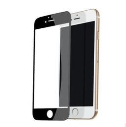 Wholesale Iphone Carbon White - 3D Carbon Fiber full cover Tempered Glass For iPhone 7 7 PLUS 6 6plus Screen Protector Black white Red Gold RoseGold