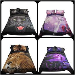 Wholesale Lion Print Comforter Sets - 3D lion Comforter Sets of 3PC Light Weight Comforter Summer Duvet Bedspread Pillowcase Full Queen Size