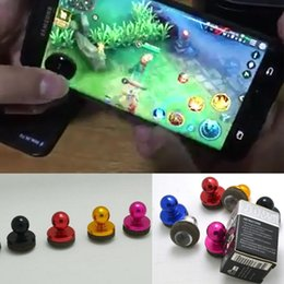 Wholesale Ipad Mini Joystick - 2017 Newest Universal Mini Tactile Game Controller Mobile joysticks for iPad & Android device cellphone roker sucker with retail package