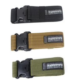 Wholesale Tactical New Military Blackhawk - Mens Designer Belts Brand Tactical New Military Blackhawk CQB Belt Outside Strengthening Canvas Waistband CQB Belt Brand Accessories DHL