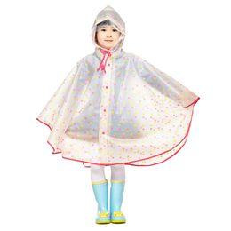 Poncho de lluvia para niños online-Impermeable para niños Impermeable de plástico transparente EVA Rain Coat Impermeable para niños Ropa de lluvia Rain Gear Poncho