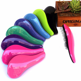 Wholesale Fashionable Hair Styles - Fashionable 8 colors available Magic Handle Hair Brush Comb Salon Styling Tool Tangle Shower Hair Comb TT Hair Brush