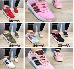 Wholesale Cheap Women S Summer Shoes - Hot Cheap Women 's Classic GAZELLE Running Shoes Canvas shoes 7 Colors Quality Women Shoes