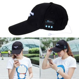 Wholesale Bluetooth Speakers Blue Box - beanie bluetooth music hat Baseball Cap Canvas Sun Hat Music Handsfree Headset with Mic Speaker for Smart Phone with Retail Box