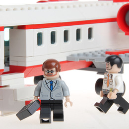 Wholesale Bus Block Sets - Models Building Toy Blocks GUDI 334 pcs Airplane Toy Air Bus Model Airplane Building Blocks Sets Model DIY Bricks Classic Boys Toys