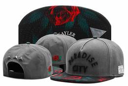 Wholesale Cap City Hats - Brand new Cayler & Sons floral rose PARADISE CITY snapback hats adjustable street gorras bones hip hop baseball caps for men and women